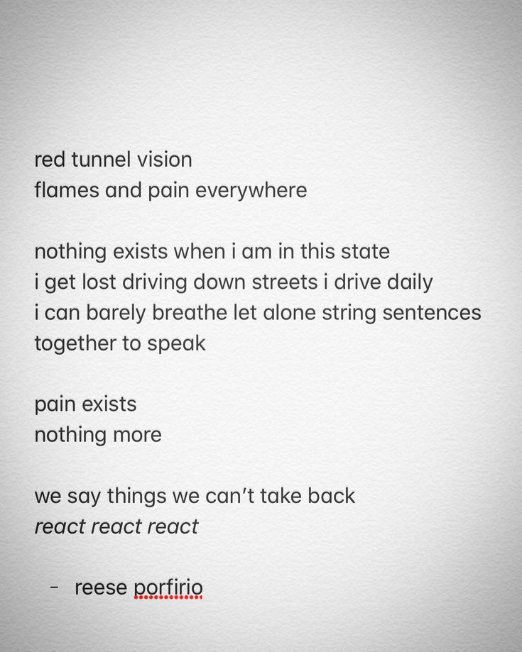 red tunnel vision • ⛑☄️💔 • #poetry #poem #poetrycommunity #poetsofinstagram #poetsofig #canadianpoet #canada #canadianwriter #writing #writingcommunity #writers #writersofinstagram #writersofig #pain #red #tunnelvision #lost #react #rage #regret #artheals #mentalhealth #mentalillness #awareness #depression #bpd #reeseporfirio #follow #instagram #googleplus #twitter #facebook #tumblr #pinterest #wordpress #blog #blogger
