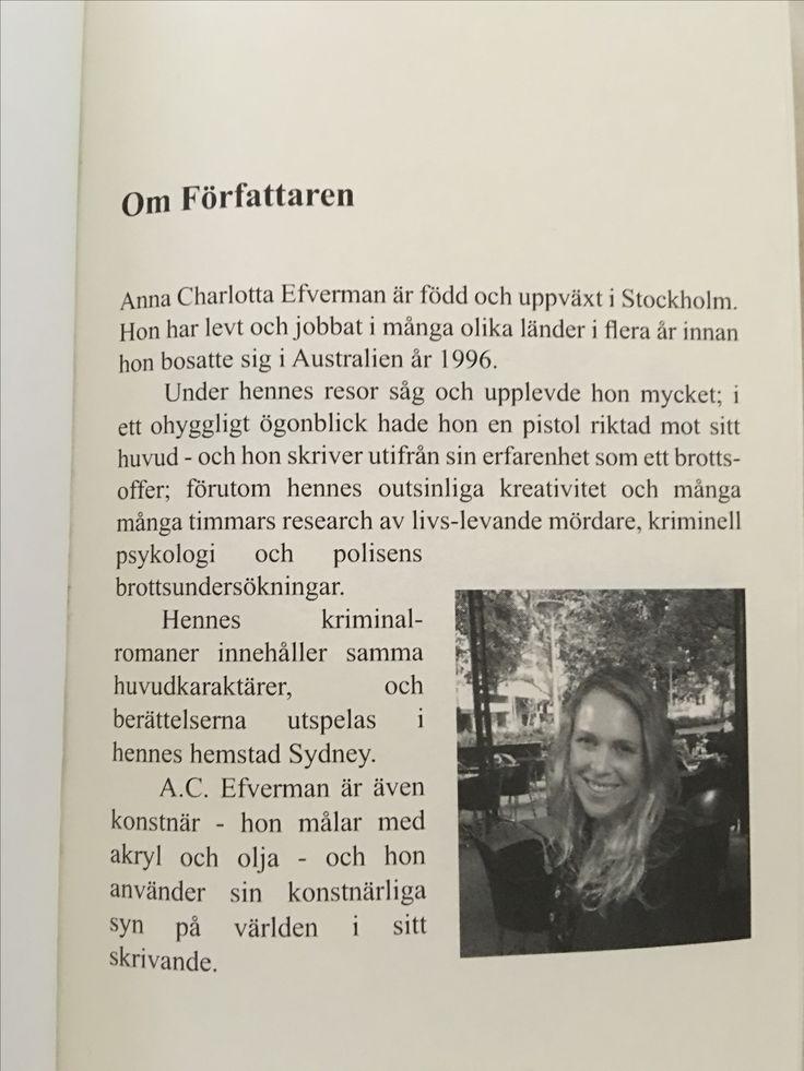 Svenska författaren A.C. Efverman - vars bestselling kriminalroman-serie finns i pocket och ebok, på svenska och engelska. #böcker #deckare #spänningsroman #läsning #boktips #lästips #skuggspel #borta #bokserie #sydney #australien #svensk #författare
