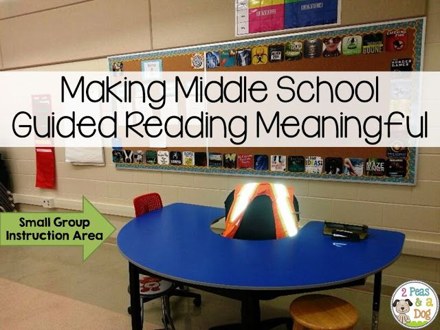 2 Peas and a Dog: Making Guided Reading Meaningful for Middle School Students. It is very important that teachers use engaging materials during guided reading. Read this for GREAT ideas.