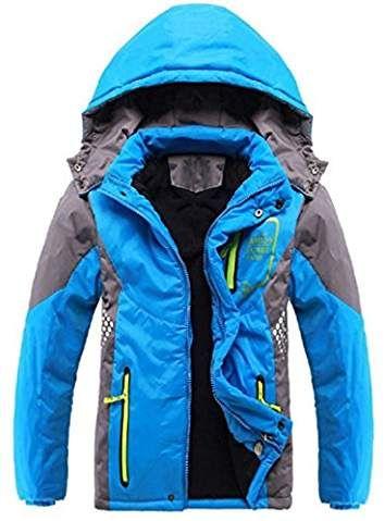 7c79d233d99e Ausom Fashion 2018 Winter Latest Boys Thicken Fleece Hooded Jacket ...