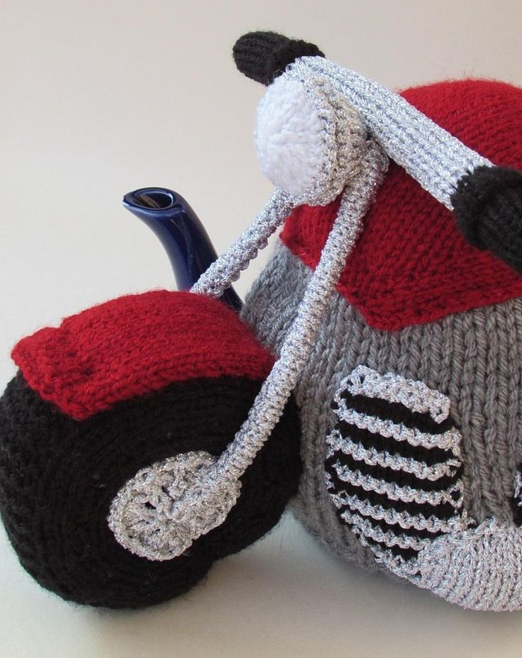 Motorbike Tea Cosy http://www.loveknitting.com/catalog/product/view/id/170060
