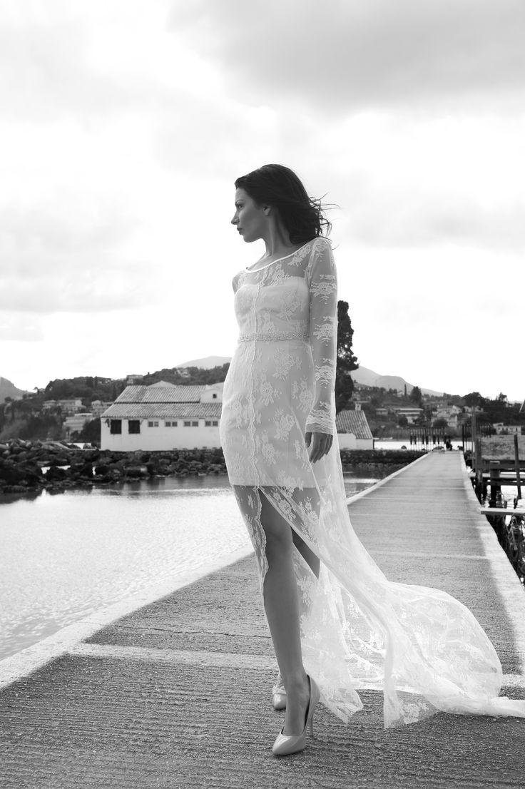Lace Wedding Dress by Marianna Kastrinos.