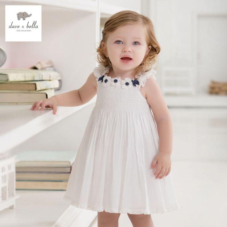 (26.91$)  Buy here  - DB443 dave bella summer baby girls fairy dress infant clothes girls birthday dress  toddle 1 pc kid princess wedding dress