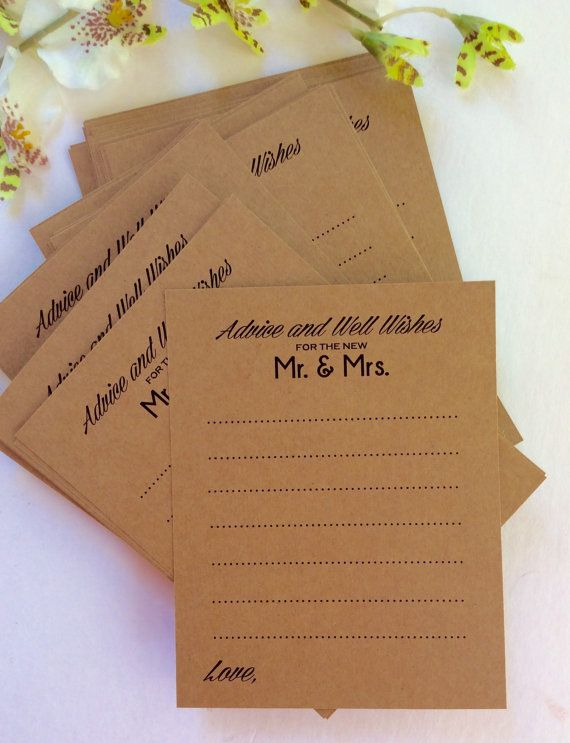 Starts at 50  Wedding Advice Cards for Bride and by paletteroyale