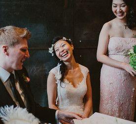 Mandala Wines, Yarra Valley wedding. Indoor wedding ceremony, from www.mandalawines.com.au