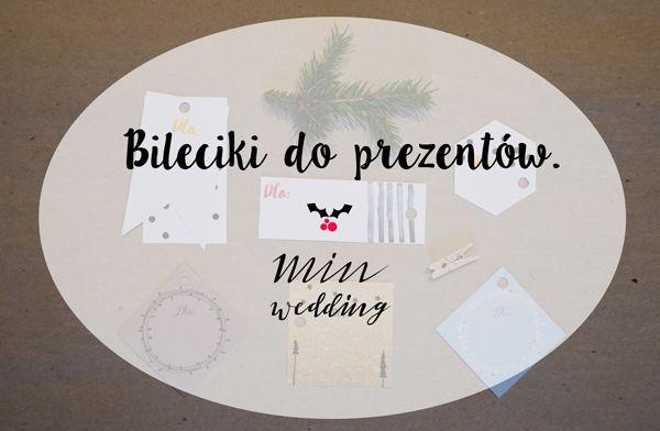 Bileciki do prezentów -minwedding