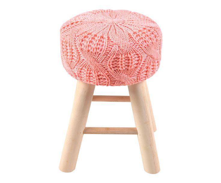 Табурет - дерево - розовый - 30х42 см | Westwing Интерьер & Дизайн