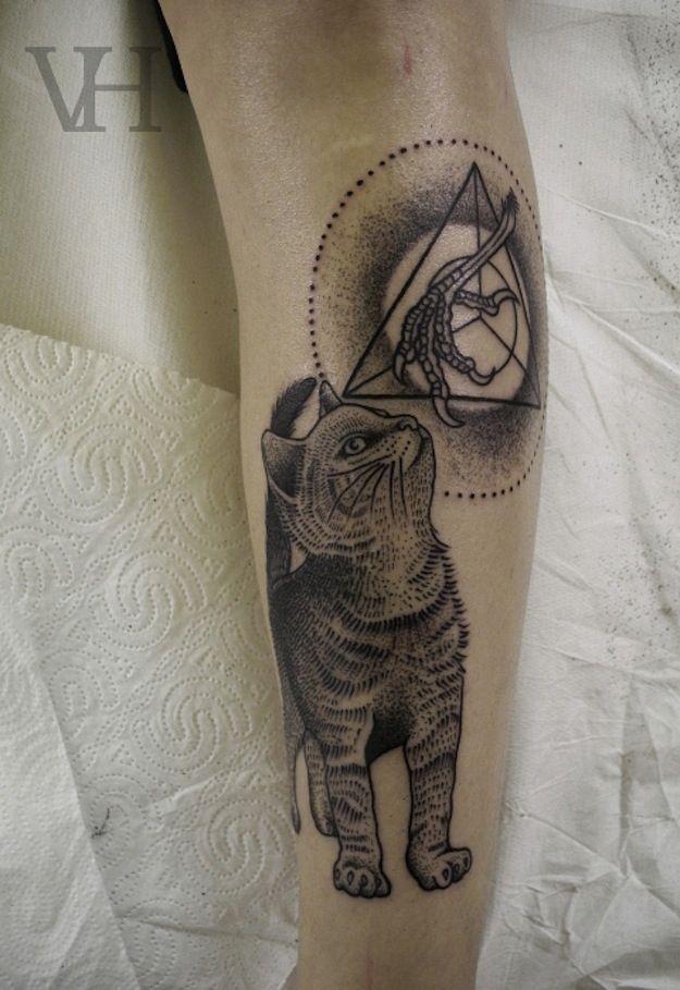 Possible Illuminati Cat | 38 Weird Or Wonderful Cat Tatts
