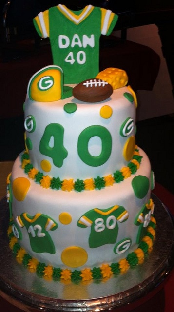 Packers Cake by CenterStageSweets.com