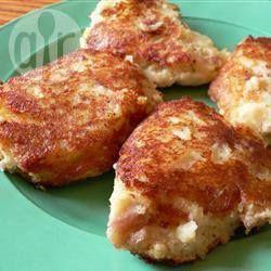 Krokante aardappelkoeken  van een restje aardappelpuree