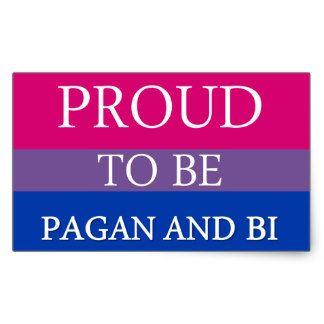 Proud To Be Pagan and Bi Rectangular Sticker