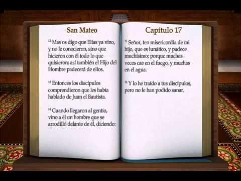 Aqui les dejo una pagina de la biblia audio en espanol: http://www.bible.is/SPNNVI/Matt/1 A QUI LES TRAIGO EL NUEVO TESTAMENTO: SANTIDAD A JEHOVÁ CREDITO NAR...