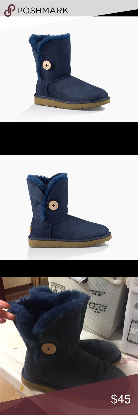 Bailey Button Navy Blue Uggs Good Condition super cute uggs UGG Shoes