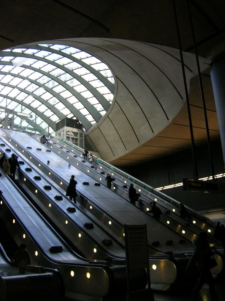 Canary Wharf underground station, London (Jubilee line)