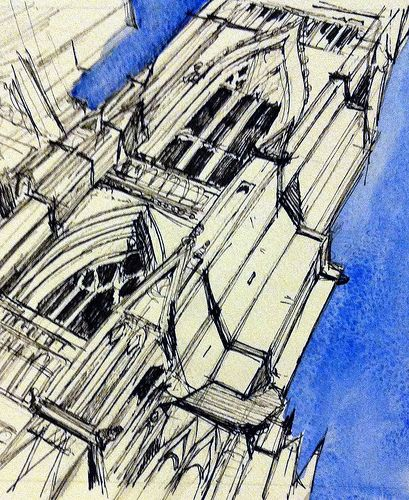 York Minster side view with sky number two | por John Harrison, artist