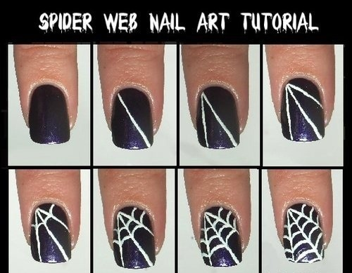 The 35 best images about Spiders and web nail art on Pinterest ...