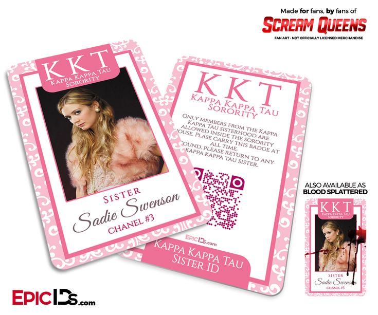 Kappa Kappa Tau 'Scream Queens' Sorority Cosplay ID - Chanel #3 (Sadie Swenson)