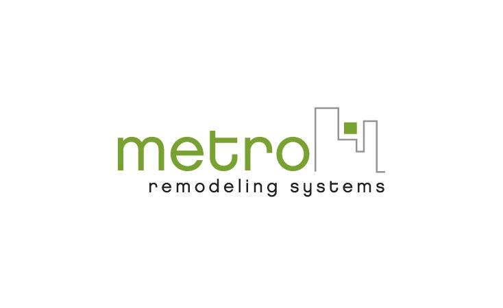 metro remodeling systems logo design
