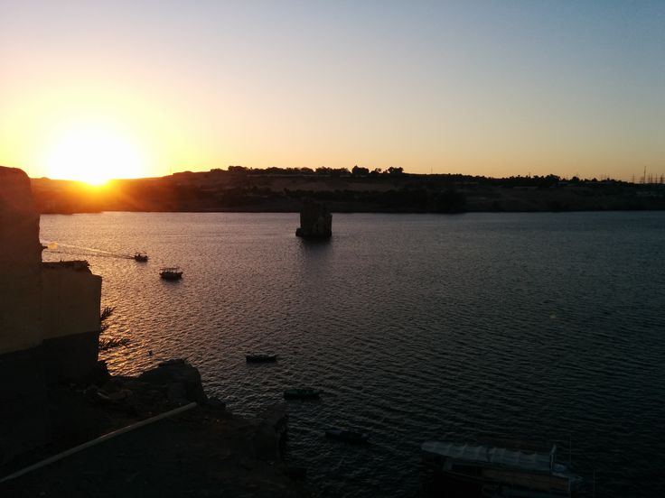 Sunset from Heisa island in the middle of the nile!