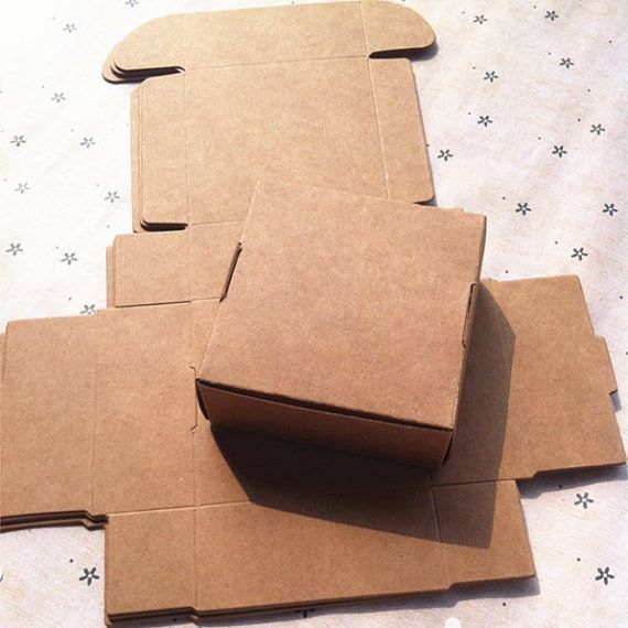 50pcs Brown Kraft Paper Box,Jewelry Paper Boxes,Cookies Packing Box,Chocolate Box,Hand Cake Paper Box,Biscuit Boxe--7.5X7.5x3CM $14 for 50