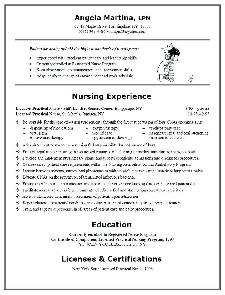 Experienced Registered Nurse Resume Examples Awesome