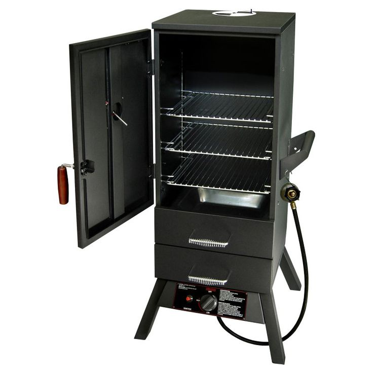 Landmann Smoky Mountain 34 in. Vertical LP Gas Smoker with Two External Drawers - 3405GLA