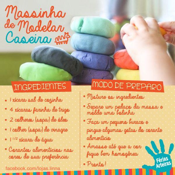 Como Fazer Massinha de Modelar Caseira.
