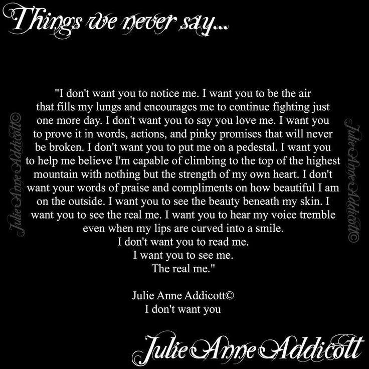 """22 Likes, 2 Comments - Julie Anne Addicott ~ Author (@demonsoulangelheart) on Instagram: """"#thingsweneversay #poet #poem #poetry #writer #prose #author #julieanneaddicott #despair #pain…"""""""