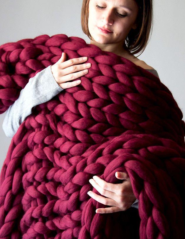 M s de 25 ideas incre bles sobre colchas hechas a mano de for Colchas de punto de lana
