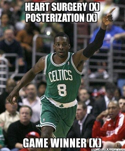 Jeff Green with the buzzer beater! - http://nbafunnymeme.com/jeff-green-with-the-buzzer-beater/