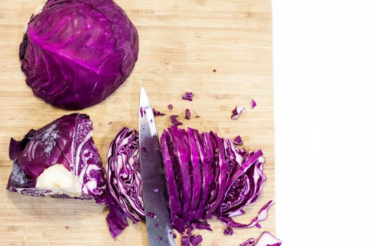 Look at the stunning colour of the Red Cabbage! Natures best!