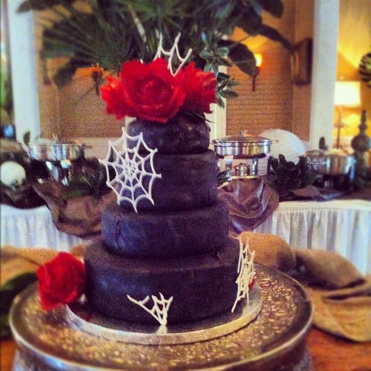 my version of an elegant halloween cake - Elegant Halloween