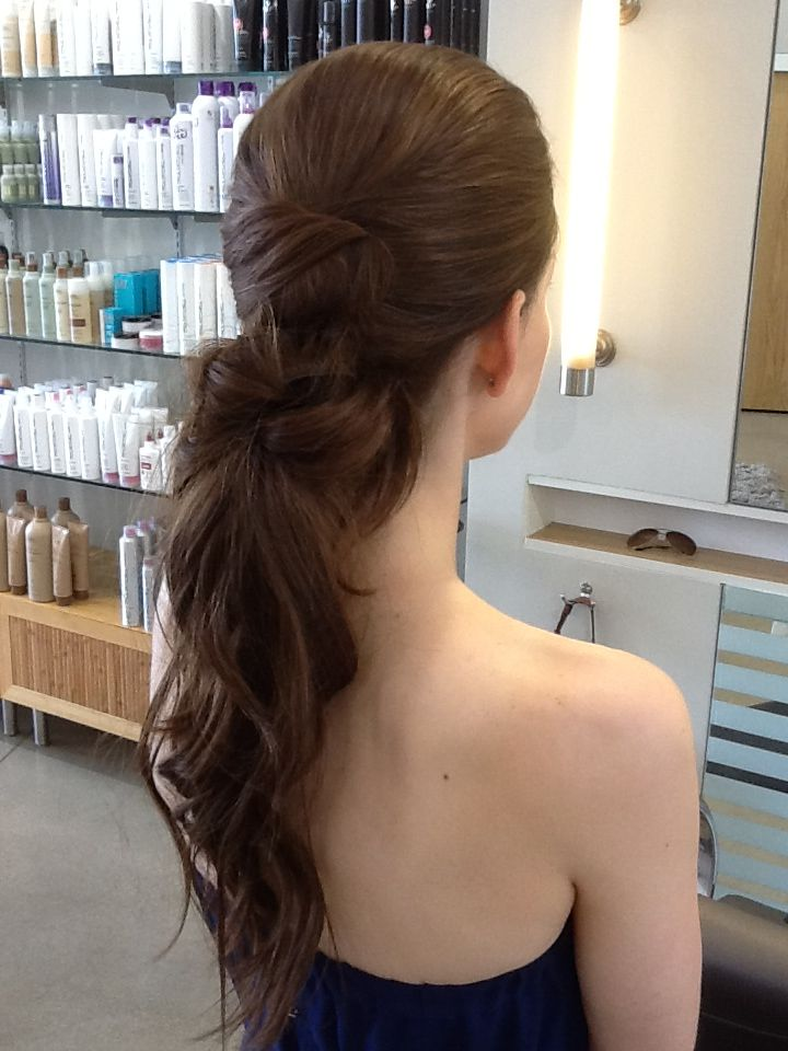 Added By Carla Makowski. #ponytail#longhair#bridal#formal#extensions#prom hair  I added a hair extension to create this long formal pony tail