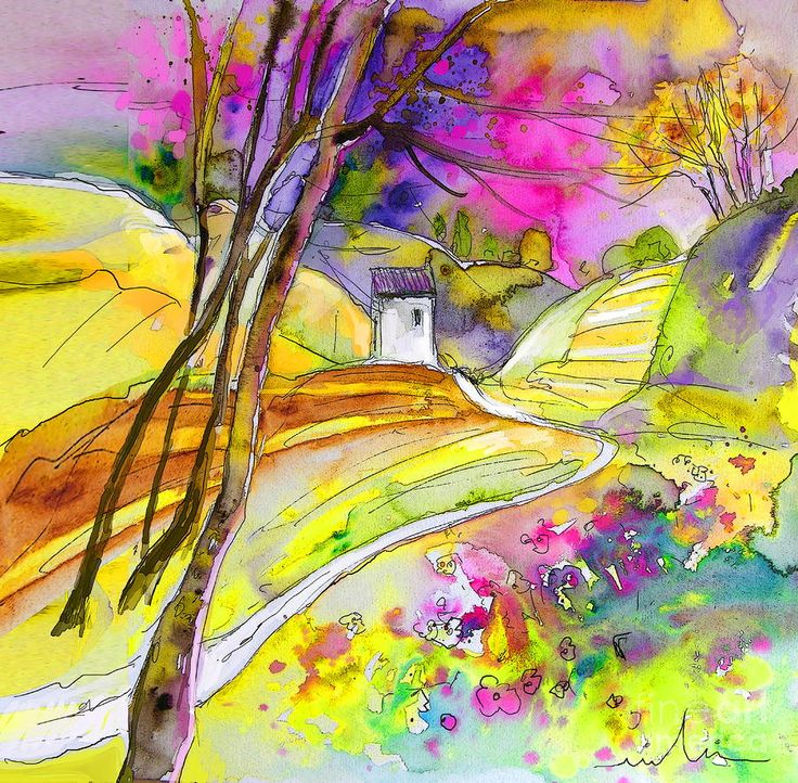 Fantaquarelle 04 - watercolor and ink by ©Miki De Goodaboom (via FineArtAmerica)