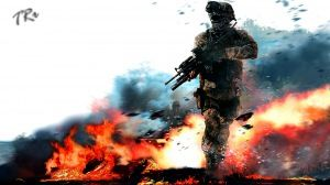 Preview wallpaper call of duty, modern warfare, military, soldier, fire, gun, action 1920x1080