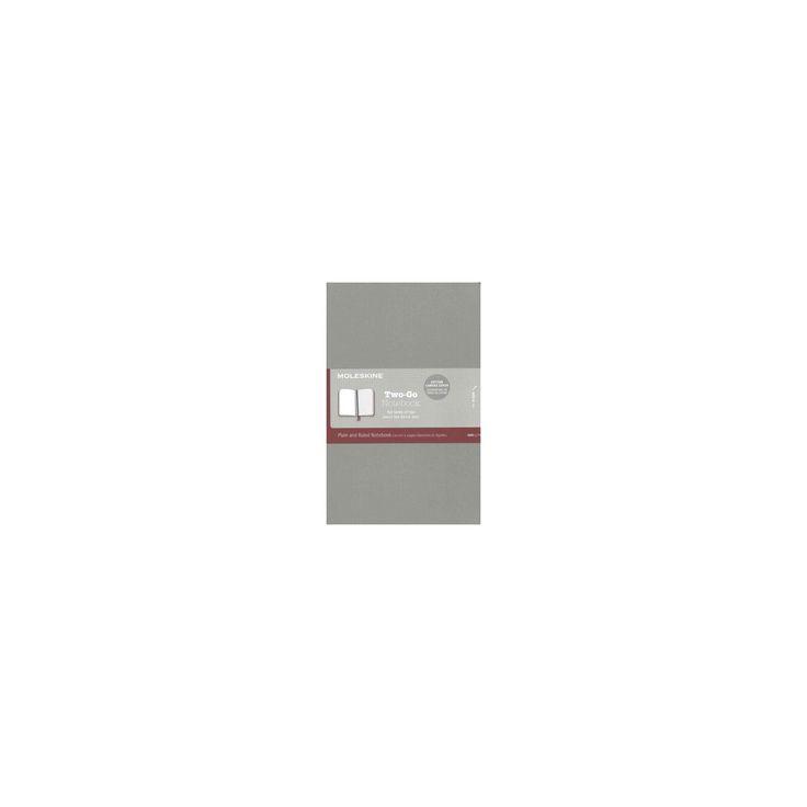 Moleskine Two-go Notebook Medium Ruled-plain Ash Grey (Hardcover)