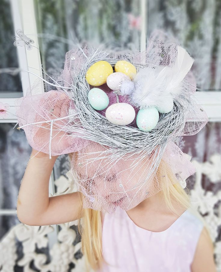 How to make a Pretty Birds Nest Easter Parade Hat, full Picture Tutorial | Now that's Peachy Blog | DIY pastelSpring Easter fascinator design for School and street parades you can make at home.#craft #easterhat #easter #eastercrafts