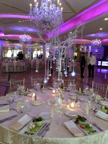 Amaze Your Guests With Amores Affordable Diamond Tree Centerpiece Rental NJ Amore Weddings Floral Custom Centerpieces Party
