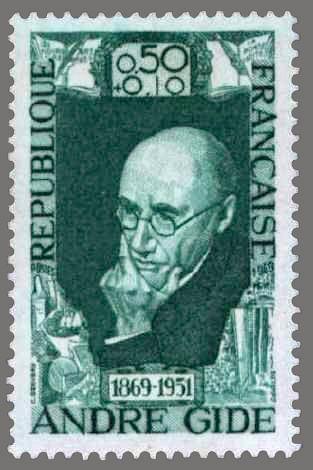 timbres de france/timbre france 1969 - 1594 - Portrait effigie de Andre Gide…