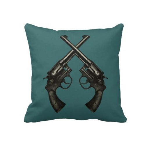 Vintage Smith & Wesson K22 Gun Home Decor Pillow