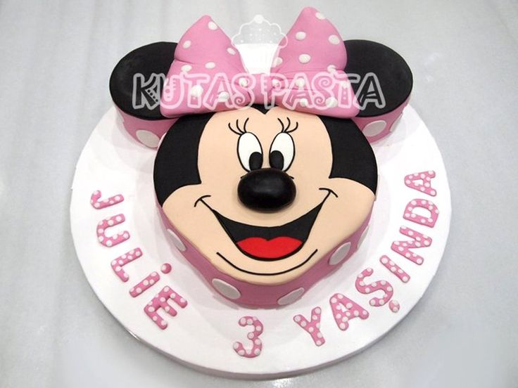 Minni Mouse Surat Pasta - Minnie Head Cake