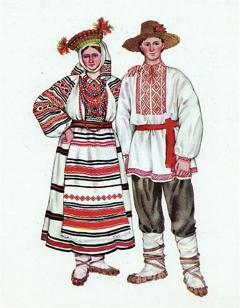 Славянский костюм фото