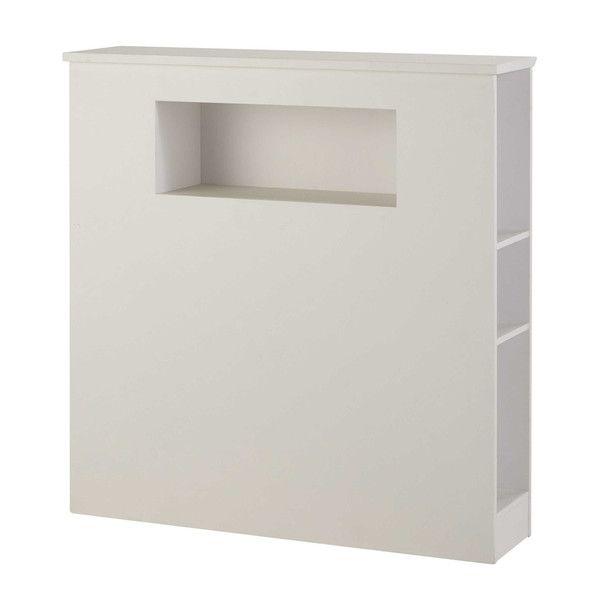 Wit houten hoofdeinde L 90 cm - Tonic