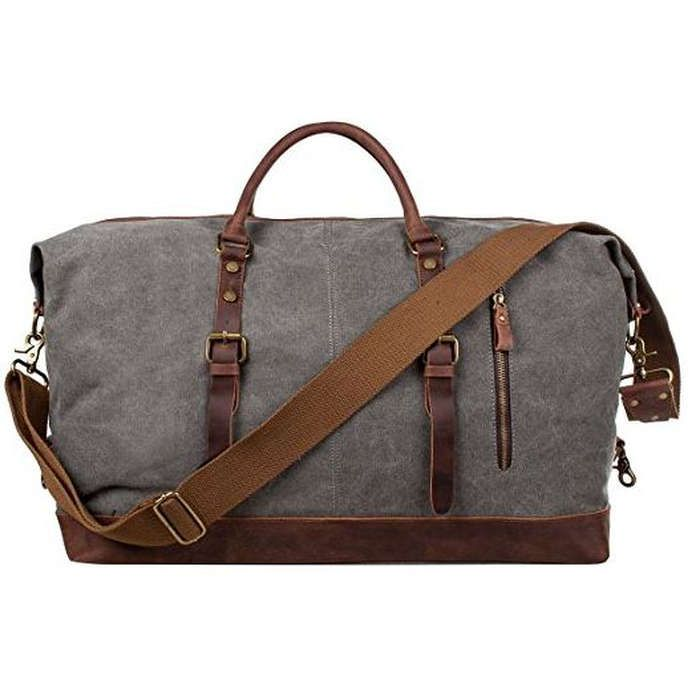 Rank & Style - S-ZONE Oversized Canvas Weekend Bag #rankandstyle