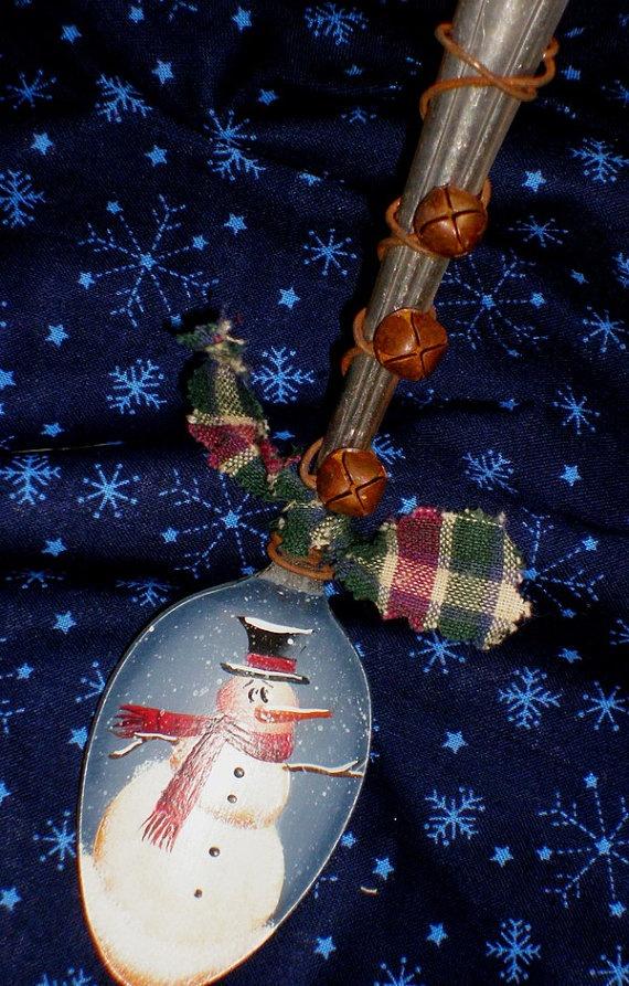 snowman spoon ornament