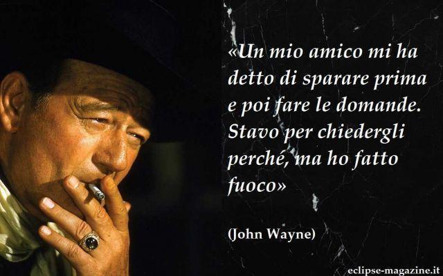 """Aforisma di oggi, 11 Maggio: John Wayne Nello spazio dedicato agli aforismi di Eclipse Magazine """"Aforisma del giorno"""", vi proponiamo una frase di John Wayne, grandissimo attore di enorme successo. Impersonificò il sentimento degli ideali p #aforisma #aforismi #johnwayne"""