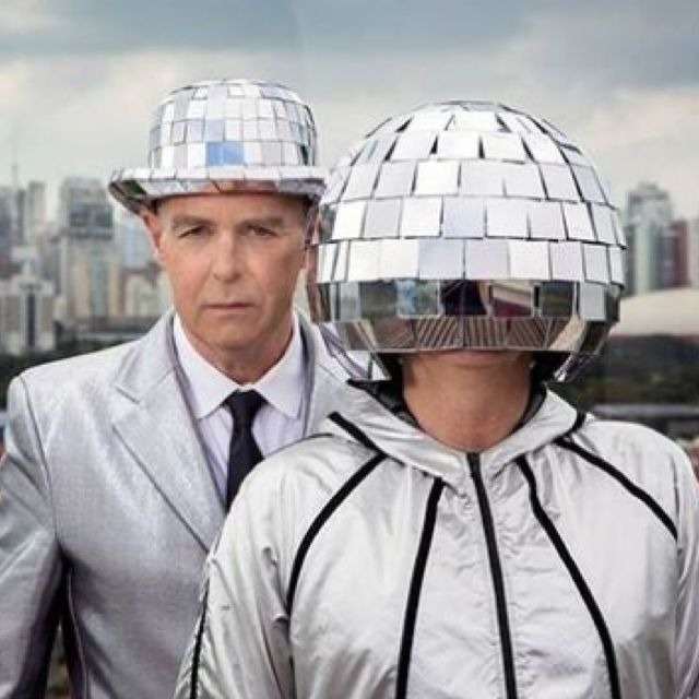Pet Shop Boys - LOVE the mirror ball headgear!