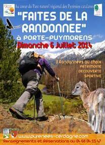 Faîtes de la randonnée. Le dimanche 6 juillet 2014 à Porte-Puymorens.