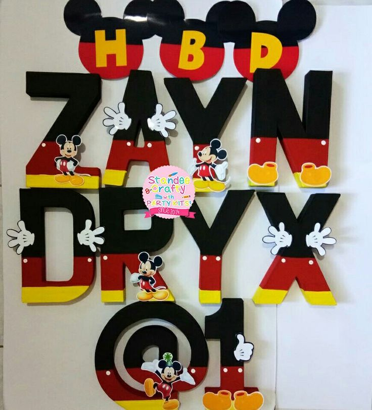 mickey mouse letters 62 best letter standees images on 23637