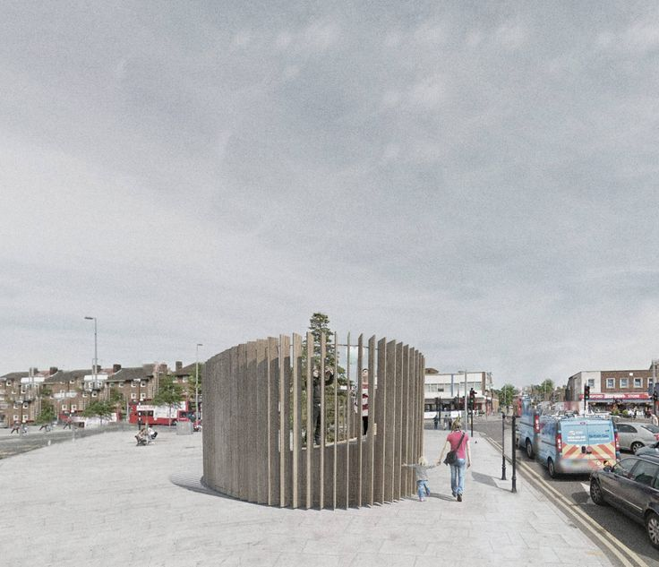 The 'Waltham Forest', a public space installation by Architecture for London